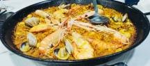 Fideua and seafood